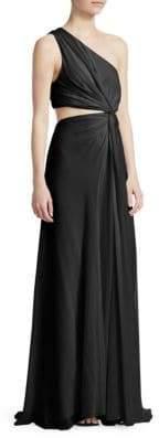 Elizabeth and James Goldie Silk One-Shoulder Gown