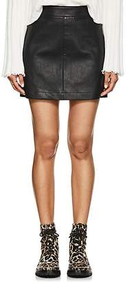 Helmut Lang Women's Stretch-Leather Miniskirt - Black
