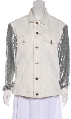 IRO Sequin Embellished Denim Jacket