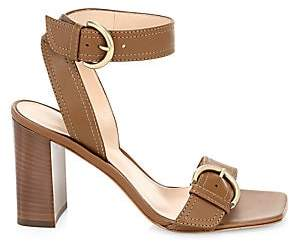 Gianvito Rossi Women's City Buckle Square-Toe Leather Sandals
