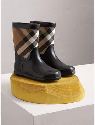 Burberry House Check Panel Rain Boots