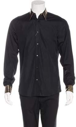 Alexander McQueen Metallic-Trimmed Dress Shirt w/ Tags