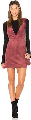 Endless Rose Suede Overall Dress