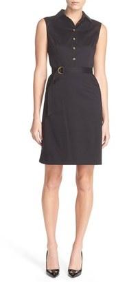Women's Ellen Tracy Stretch Cotton Shirtdress $98 thestylecure.com