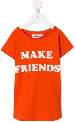 Molo Make Friend print T-shirt