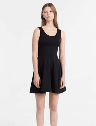Calvin Klein milano jersey skater dress