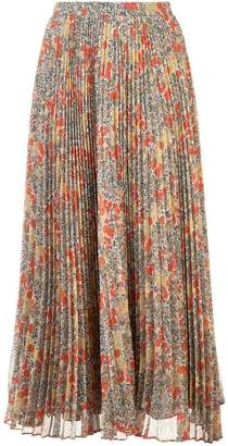 Alexis Phylicia floral pleated skirt