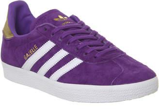 d50a7b8c0682 adidas Gazelle Trainers White Purple Gold Metallic Elizabeth Tfl