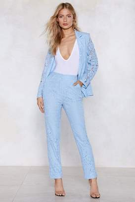 Nasty Gal Blue in the Lace Pants