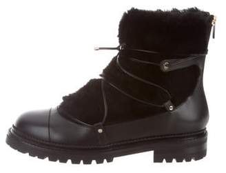 Jimmy Choo Fur Combat Boots