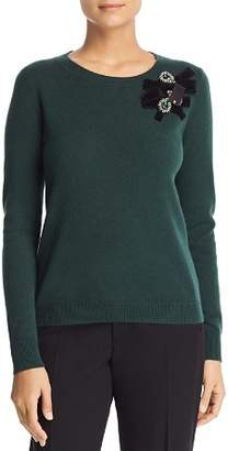 Badgley Mischka Cashmere Embellished Sweater