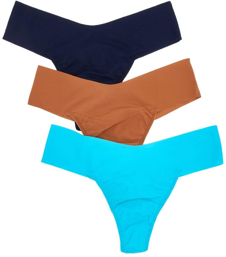 Bare Eve Natural Rise Thong - Pack of 3