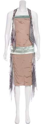 Fendi Halter Printed Dress