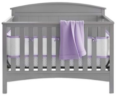 BreathableBaby BreathableBaby® Deluxe Embossed 4-Piece Crib Bedding Set in Lavendar
