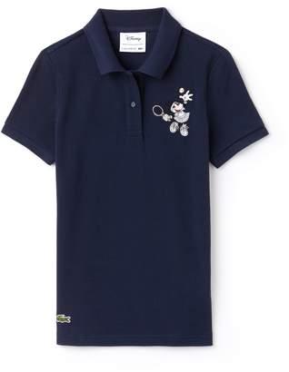 Lacoste Women's Disney Minnie Embroidery Petit Pique Polo