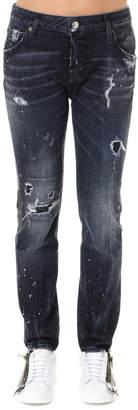 DSQUARED2 Black Night Stellata Boyfriend Jeans