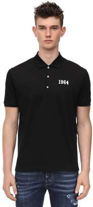 DSQUARED2 Printed Cotton Viscose Jersey Polo