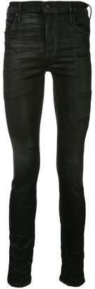 RtA distressed patch skinny jeans
