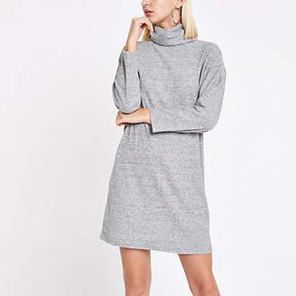 River Island Grey roll neck sweater dress