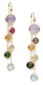Marco Bicego Jaipur Semi-Precious Multi-Stone& 18K Yellow Gold Drop Two-Strand Drop Earrings