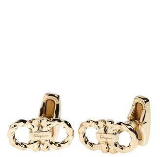 Salvatore Ferragamo Double Gancio Cuff Links