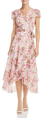Betsey Johnson Rose-Print Wrap Dress