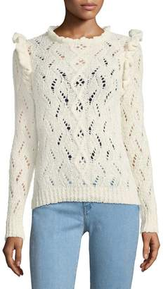 Antik Batik Women's Melody Open-Knit Ruffle Sweater