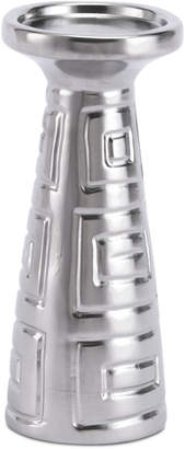 ZUO Azteca Matte Silver-Tone Small Candle Holder
