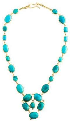 Irene Neuwirth 18K Turquoise & Diamond Collar Necklace