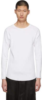 White Rib Stitch Sweater