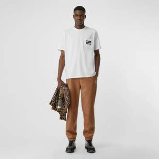 Burberry Tape Print Cotton T-shirt