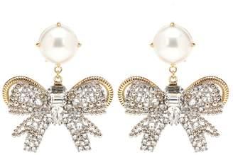 Miu Miu Faux pearl and crystal earrings