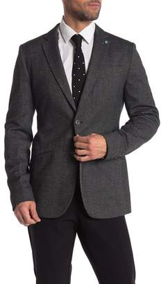 Ted Baker Beektt Grey Tweed Trim Fit Jacket (Big & Tall)