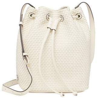 4c333b5b784 Cole Haan Bethany Weave Leather Bucket Bag