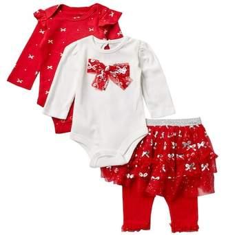 Baby Starters Bows Bodysuits & Tutu Leggings Set (Baby Girls)