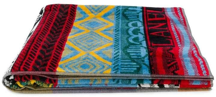 multi-print beach towel