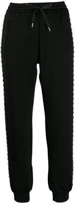 Miu Miu crystal embellished track pants