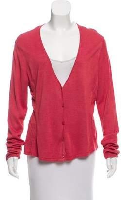 Eileen Fisher Silk Button-Up Cardigan
