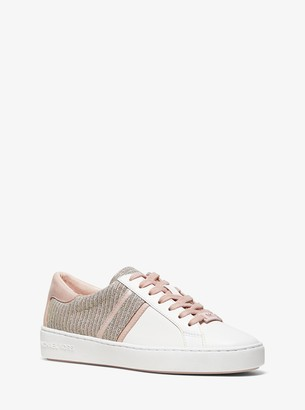 MICHAEL Michael Kors Keaton Chain-Mesh and Leather Sneaker