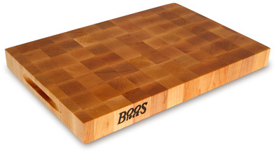 John Boos & Co.® Reversible End-Grain Chopping Block with Grips