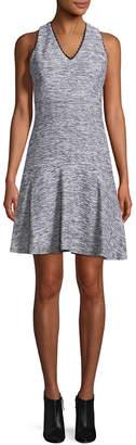 Karl Lagerfeld Picot Heathered Dress