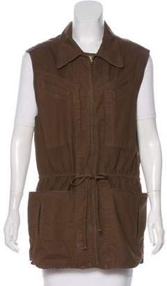 A.L.C. Longline Zip-Up Vest