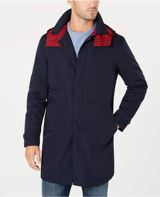 Tommy Hilfiger Men Quest Modern-Fit Raincoat with Removable Hood