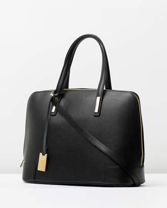 Fiona black Italian leather handbag
