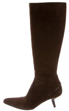 Giorgio Armani Suede Knee-High Boots