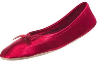Isotoner Women's Satin Maria Ballerina Slipper