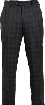 English Laundry Men's Slim-Fit Plaid Twill 3-Piece Suit, Gray
