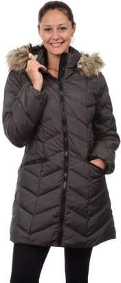 Fleet Street Women's Hooded Chevron Puffer Down Coat