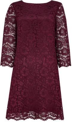 Wallis Berry Lace Shift Dress