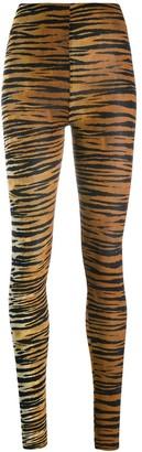 Alexandre Vauthier tiger print leggings